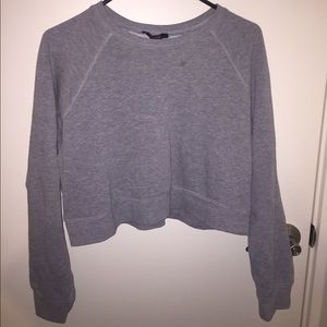 Forever 21 light grey cropped sweater